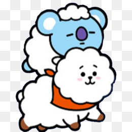 transparent cartoon head snout sticker line art bt21 koya rj star aries constellation zodiac kpop5e4bf115f37263.8026168515820352219972